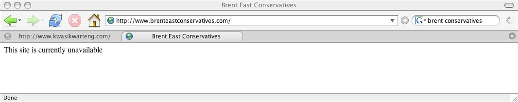 Brent East Conservatives unavailable dot com