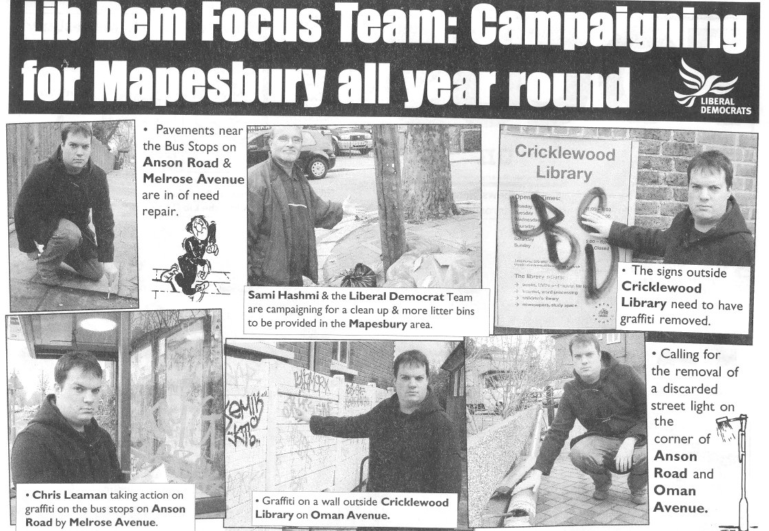 Focus on Mapesbury - cleaning up